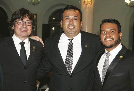 Emilio Peña, Jorge Paz y Santiago Montero fueron posesionados en el acto