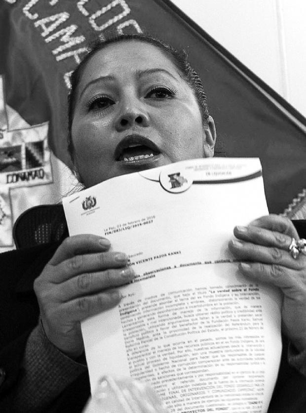 A Lariza Fuentes, interventora del Fondioc