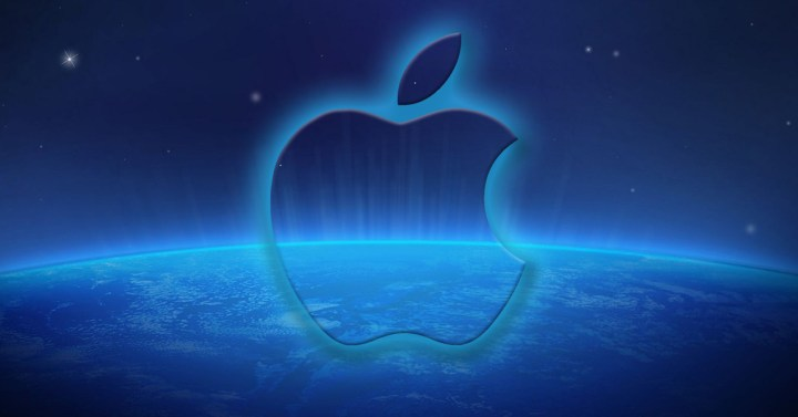 Icono de Apple con relieve azul