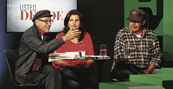 Abrieron el espacio. Filemón Escóbar, Rebeca Delgado y Felipe Quispe fueron los primeros en dar sus posiciones en el espacio de web TV