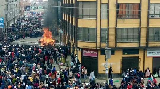 Destrozos en la Alcaldía de El Alto. | Foto archivo  - Los Tiempos  | Usuario