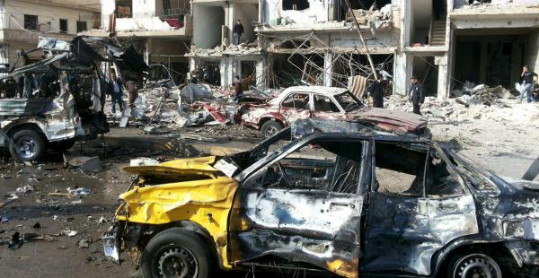 Uno de los atentados fue en Homs, ciudad controlada por las fuerzas gubernamentales