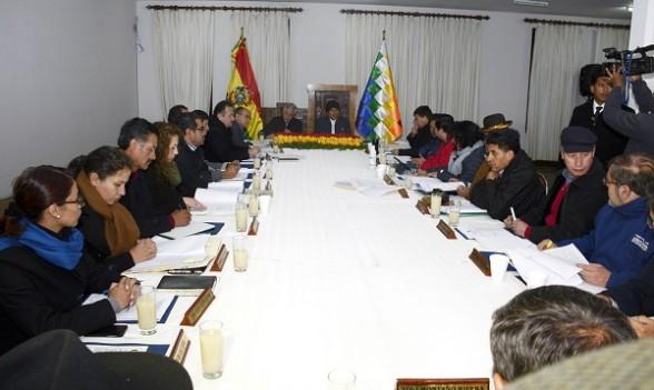Una reunión de Gabinete el año pasado. -   Abi Agencia