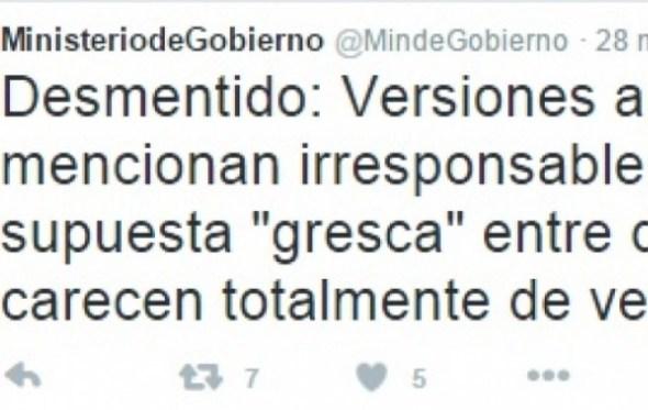 """Ministerio de Gobierno desmiente """"gresca"""" entre ministros"""
