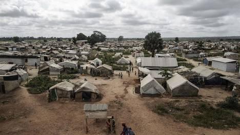 El campo de desplazados  internos de Mpoko, en Bangui./ AFP