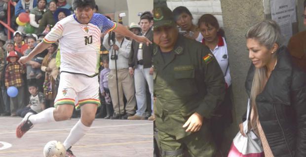 Evo Morales jugaba un partido de fútbol en Oruro mientras la madre de su hijo estaba encerrada en una celda en La Paz y la tía de Gabriela acabada de confirmar que el vástago del presidente no había muerto