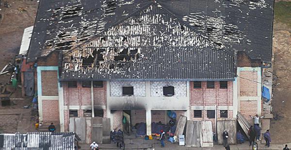 Así quedaron las instalaciones de la cárcel de Palmasola