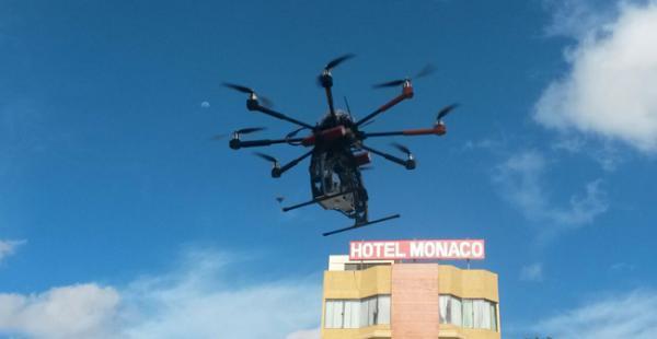 El dron fue comprado por el municipio para la lucha contra la inseguridad