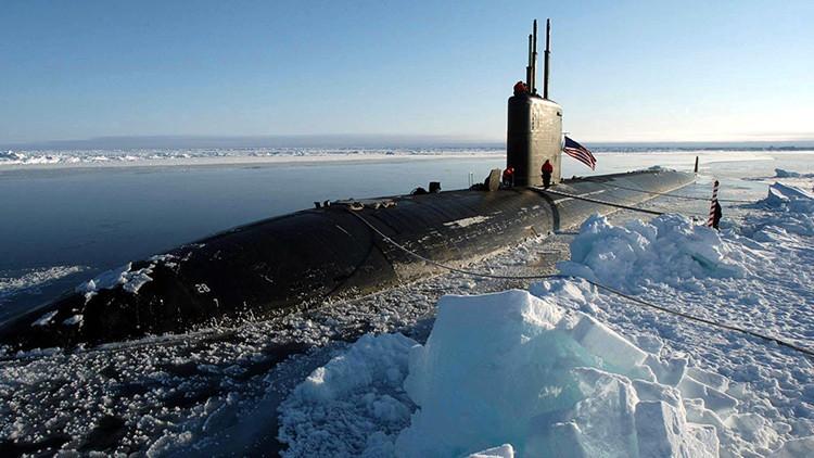 Un submarino de EE.UU. cerca del Polo Norte