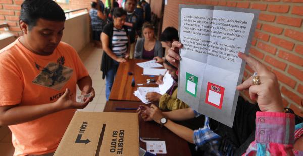 La gente no dudó en asistir de nuevo a las urnas para emitir su voto
