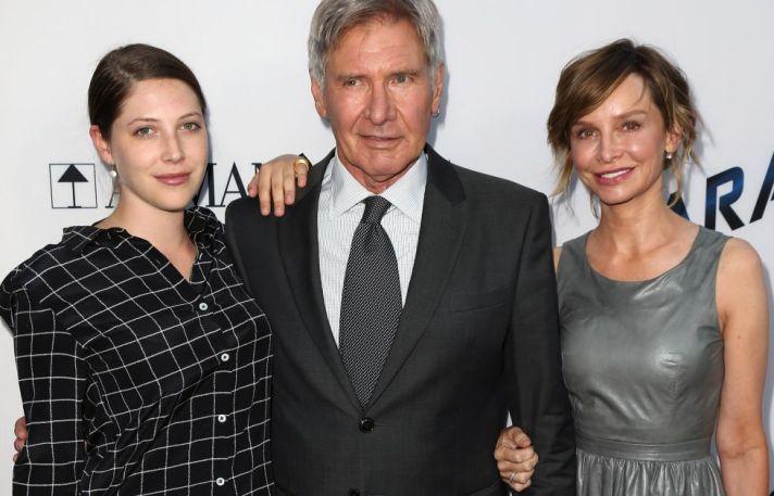 Georgia Ford, Harrison Ford y Calista Flockhart.
