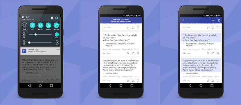 universal copy android Universal Copy es una app que te permite copiar texto de apps que lo tienen bloqueado por defecto