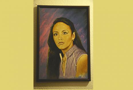 UN BELLO RETRATO El artista Ángel Blanco la pintó cuando Elizabeth tenía 22 años