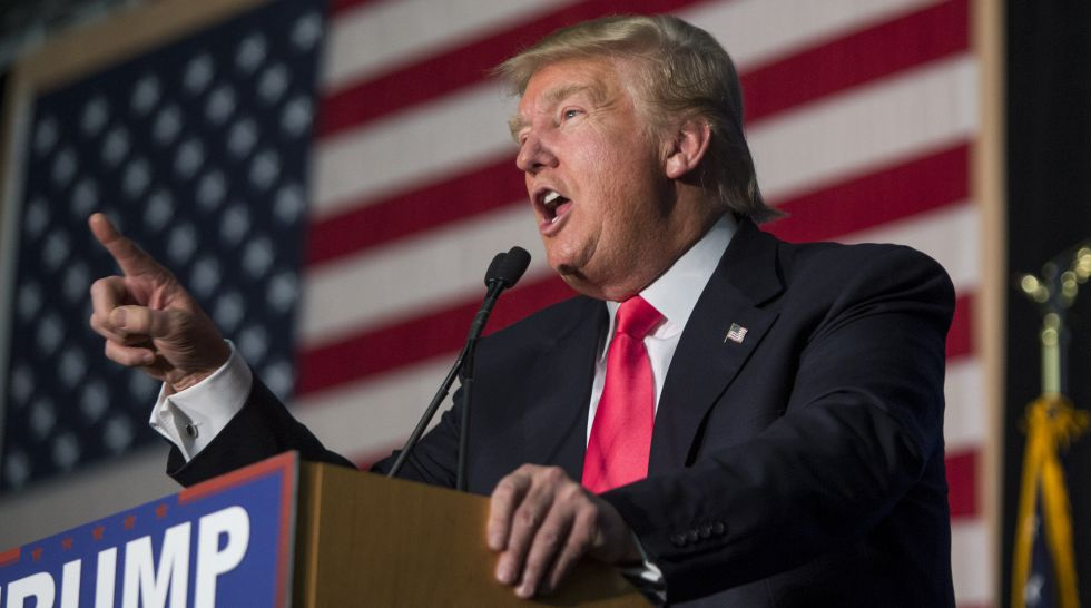 Donald Trump, el martes en New Hampshire
