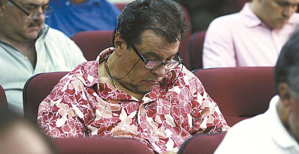 Ronald Castedo en la audiencia de ayer por el caso terrorismo