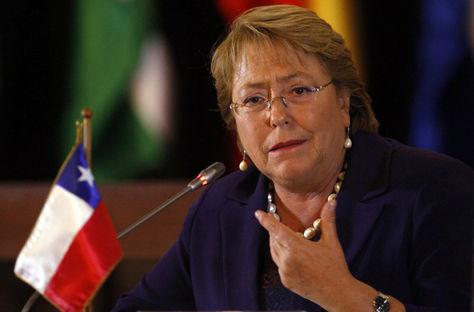 La presidenta de Chile, Michelle Bachelet. Foto: www.tiemponline.com