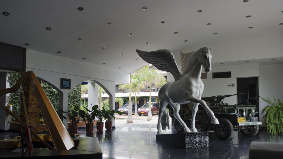 En el hotel La Bendición, propiedad suya, el alcalde cumplió con la medida de detención domiciliaria tras salir de la cárcel La Modelo.