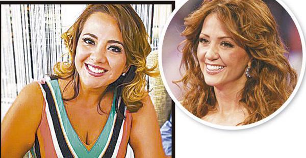 Cecilia Bellido y Andrea Legarreta. La presentadora de Que no me pierda tiene la misma sonrisa pícara que la mexicana, famosa por conducir programas de TV.