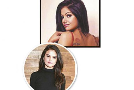 Gabriela Zegarra y Selena Gómez. La conductora de Red Uno podría hacerse pasar fácilmente por la actriz y cantante nacida en EEUU.