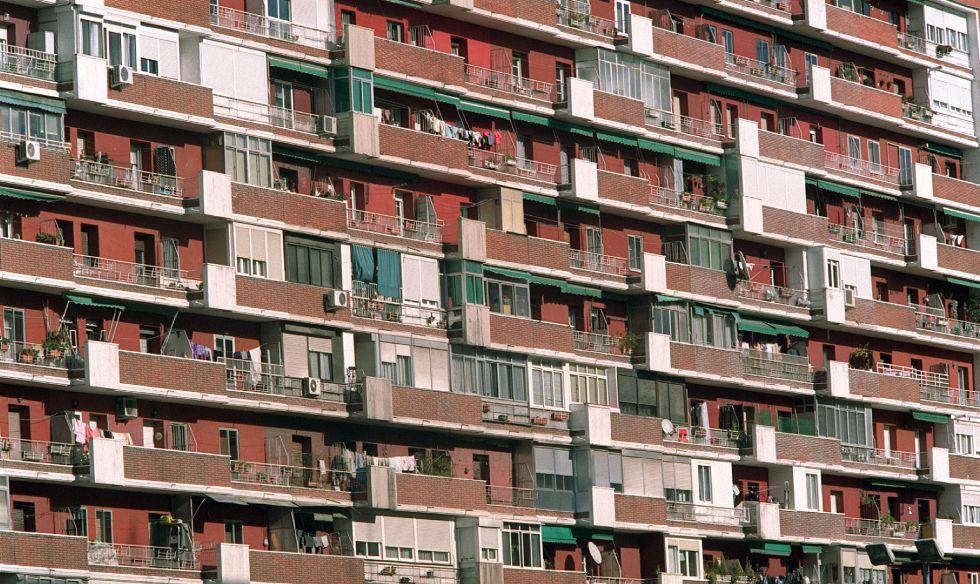 Bloque de viviendas en Madrid.