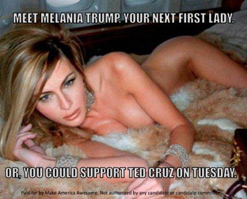 El afiche difundido en Facebook de Melania Trump que desató la polémica
