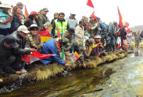 El Gobierno inauguró hace años proyectos en el Silala.
