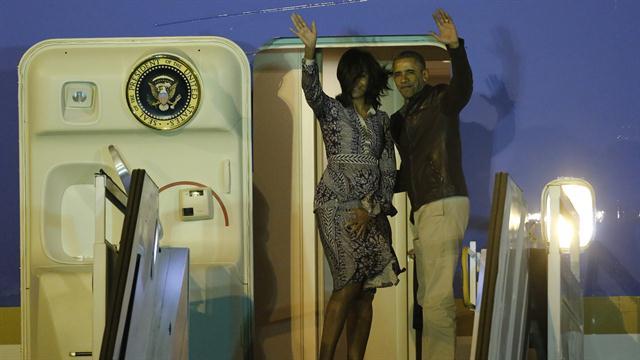 Barack Obama abandonó la Argentina luego de su viaje a Bariloche