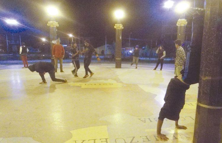 Actividad. Los jóvenes son, en su mayoría, menores de 18 años y se reúnen cada noche para practicar. Foto: Miguel Rivas