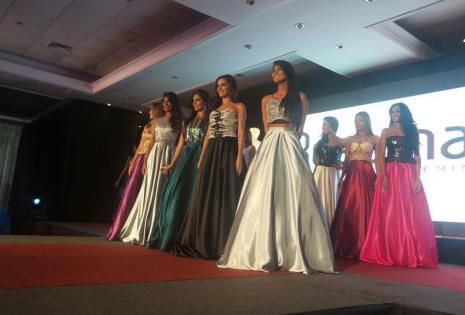 Antonela Moscatelli, Niyeli Ayala, Ana Gamón, Yessenia Barrientos y Dayana Romero las finalistas mejor traje de gala