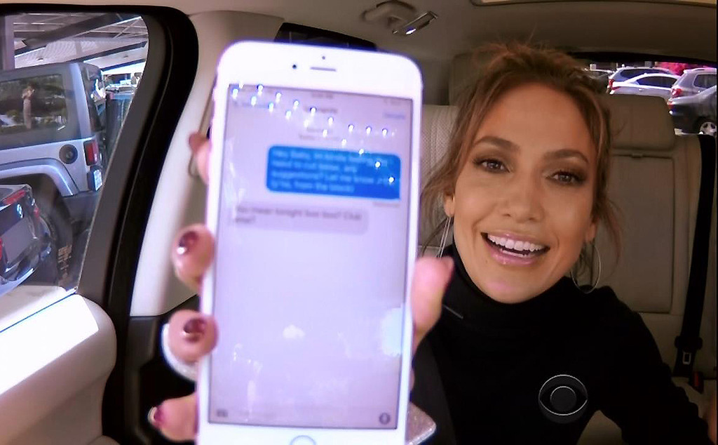 Jennifer Lopez, James Corden, Carpool Karaoke