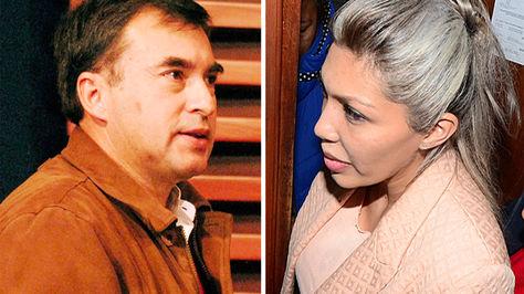 El ministro Juan Ramón Quintana y Gabriela Zapata