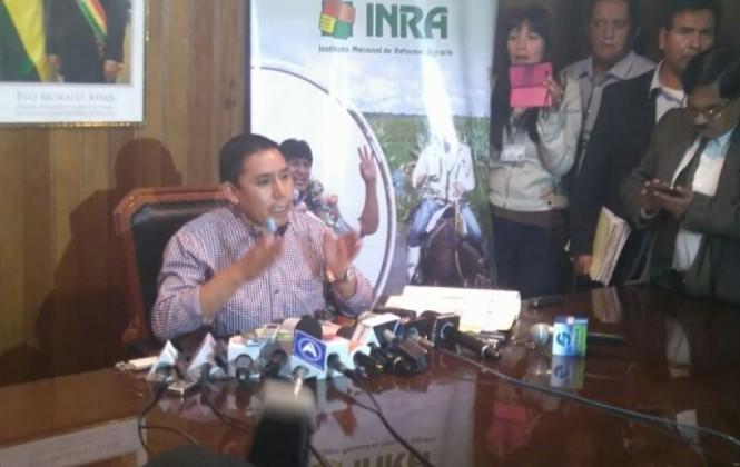 INRA revela que Jiguchi pagó Bs 10 mil por las 50 hectáreas que se adjudicó