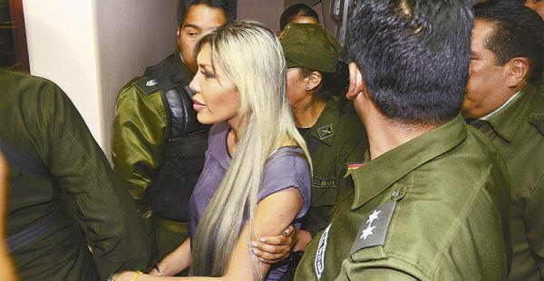 El 24 de marzo, Gabriela Zapata fue trasladada del penal de Obrajes a la cárcel de Miraflores en La Paz