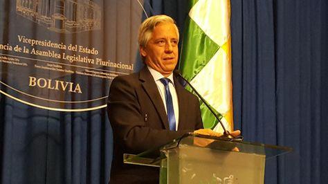 El vicepresidente Álvaro García en conferencia de prensa habla del Silala