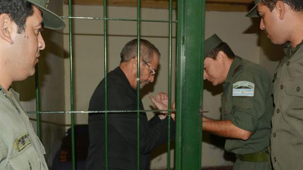 Ricardo Jaime, en la celda de la unidad especial de Gendarmería donde permanece detenido
