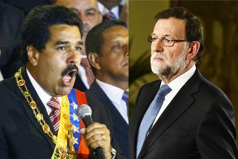 Nicolás Maduro y Mariano Rajoy