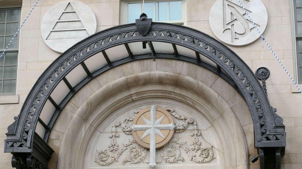 Fachada de la Iglesia de la Cienciología en Washington.