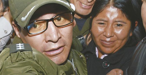 un caso no esclarecido n o aparecen los libros de ingreso y salida de gestión social Cristina Choque conversó ayer con ELDEBER en la cárcel de Obrajes. Desmintió al ministro Quintana
