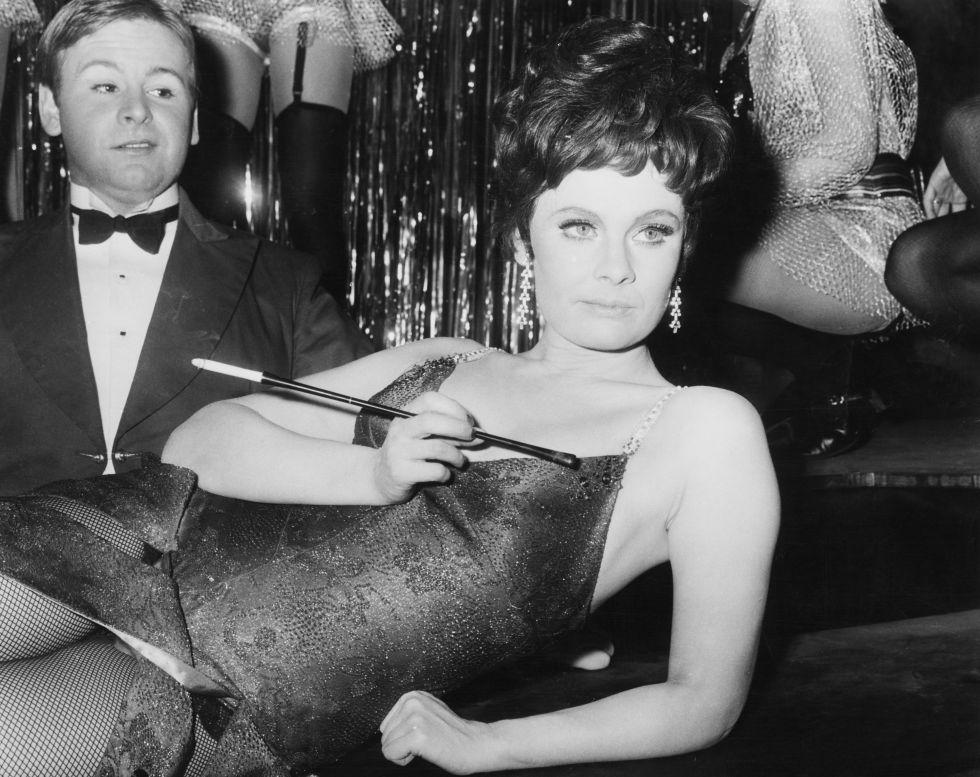 La actriz Judi Dench en la puesta en escena 'Cabaret' en 1968.