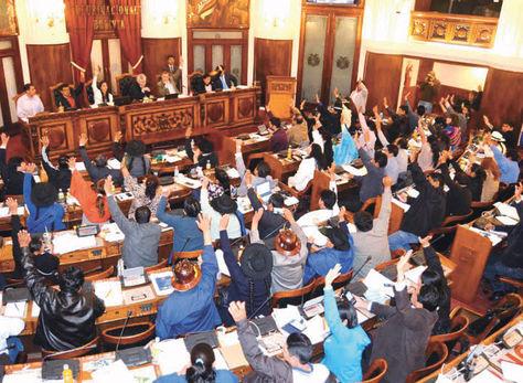 Sesión. La semana pasada el Legislativo aprobó el reglamento.