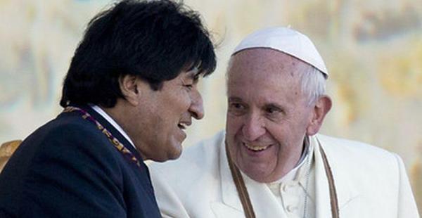 Evo Morales y el papa Francisco, en su último encuentro que tuvieron en Bolivia