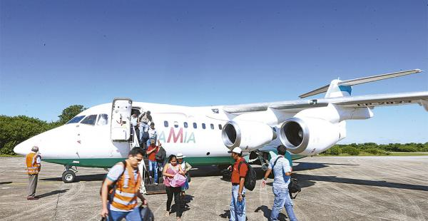 En algunas oportunidades el avión de Lamia realizó vuelos en convenio con la aerolínea Ecojet