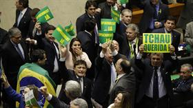 Vista de integrantes del pleno de la Cámara de Diputados de Brasil, durante la sesión