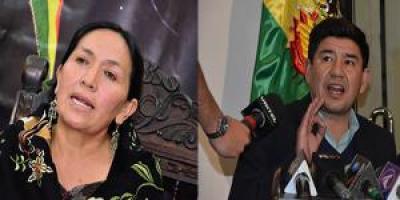 La excandidata a la vicepresidencia protestó por la inhabilitación de postulantes a la Defensoría del Pueblo por no hablar idioma nativo.
