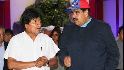 Los presidentes Evo Morales y Nicolás Maduro se reunieron hoy Venezuela. Foto: @PresidencialVen