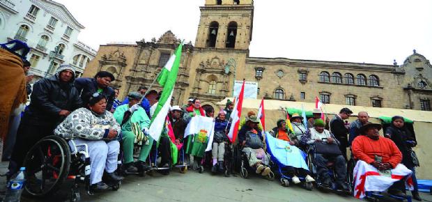 Líderes de la marcha  llegan a La Paz y piden no politizar su lucha