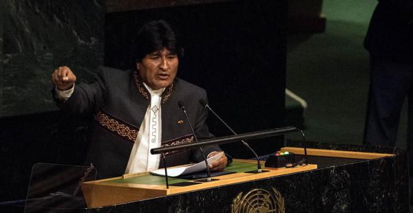 Evo Morales en la ONU