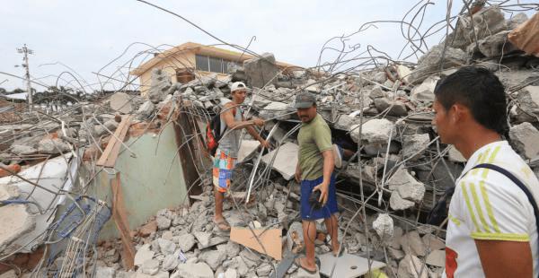 Las secuelas del terremoto en Manta
