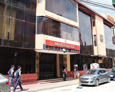 fondo. La Universidad Técnica de Oruro (UTO) necesita Bs 187 millones para estabilizarse.