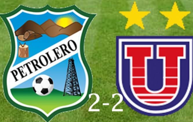 Universitario empata 2-2 con Petrolero del Chaco y se pone segundo en la tabla